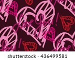 hand drawn heart with love you. ... | Shutterstock .eps vector #436499581