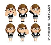 cute set   set of... | Shutterstock .eps vector #436503205