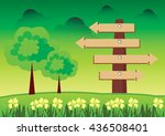 guide post icon vector the... | Shutterstock .eps vector #436508401