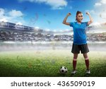 image of winning football... | Shutterstock . vector #436509019