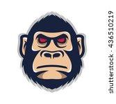 monkey head mascot | Shutterstock .eps vector #436510219