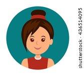 avatar girls icon vector. woman ...
