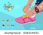 sport woman hand tying... | Shutterstock .eps vector #436514431
