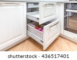 kitchen cabinet with opened