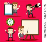 set of manager characters or... | Shutterstock .eps vector #436517875