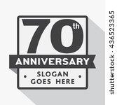 70th anniversary logo. vector... | Shutterstock .eps vector #436523365