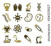 biohazard  toxic icon set | Shutterstock .eps vector #436525027