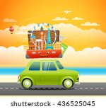 vacation traveling composition... | Shutterstock .eps vector #436525045