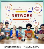 network connection internet... | Shutterstock . vector #436525297