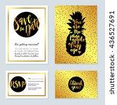 rich wedding invitations  gold... | Shutterstock .eps vector #436527691