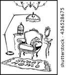 sweet home. vector illustration ... | Shutterstock .eps vector #436528675