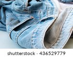 removing old jeans no body | Shutterstock . vector #436529779
