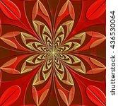 fabulous symmetrical pattern of ... | Shutterstock . vector #436530064