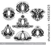 set of banners and frames with... | Shutterstock .eps vector #436531825