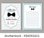baby shower vector blue... | Shutterstock .eps vector #436541611