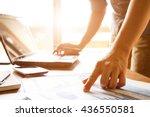 business man analyzing graph... | Shutterstock . vector #436550581