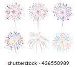 fireworks display celebration... | Shutterstock .eps vector #436550989