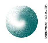 halftone wave background.... | Shutterstock . vector #436552384