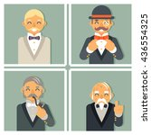 gentleman victorian businessman ... | Shutterstock .eps vector #436554325
