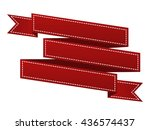 embroidered red ribbon isolated ...   Shutterstock .eps vector #436574437