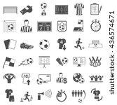 soccer icons set | Shutterstock . vector #436574671