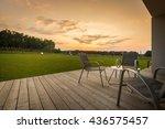 new villa patio with simple... | Shutterstock . vector #436575457