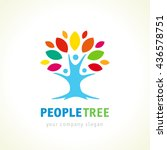 people unity logo ... | Shutterstock .eps vector #436578751