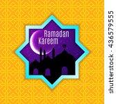 ramadan kareem greeting card  ... | Shutterstock .eps vector #436579555