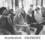 multi ethnic group people ... | Shutterstock . vector #436580305