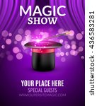 magic show poster design... | Shutterstock .eps vector #436583281