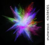 freeze motion of colored dust... | Shutterstock . vector #436584301