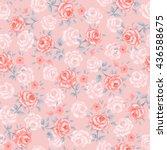 flower seamless pattern vector. ... | Shutterstock .eps vector #436588675