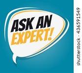 ask an expert retro speech...   Shutterstock .eps vector #436591549