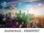 smart city and wireless... | Shutterstock . vector #436600507