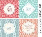 set of vintage frames in red ... | Shutterstock .eps vector #436601401