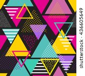 seamless geometric pattern in... | Shutterstock .eps vector #436605649