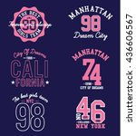 applique set for tee | Shutterstock .eps vector #436606567