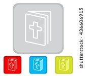 web line icon. bible  holy writ | Shutterstock .eps vector #436606915