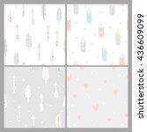 baby shower seamless... | Shutterstock .eps vector #436609099