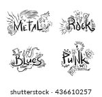 rock  punk  blues and metal... | Shutterstock .eps vector #436610257