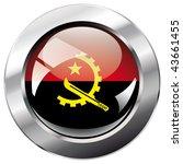 angola shiny button flag vector ... | Shutterstock .eps vector #43661455