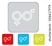 web line icon. gender symbol ...   Shutterstock .eps vector #436617979