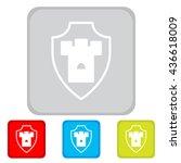 web line icon. shield. | Shutterstock .eps vector #436618009