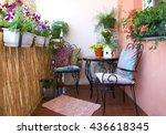 beautiful black furniture on... | Shutterstock . vector #436618345