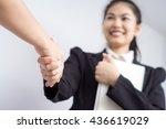 young asian business woman... | Shutterstock . vector #436619029