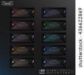 vector infographic design list... | Shutterstock .eps vector #436622869