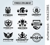 fitness logo set gym logo ... | Shutterstock .eps vector #436622881