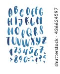 hand drawn letters. letters of... | Shutterstock .eps vector #436624597
