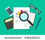 auditor work desk  accounting... | Shutterstock .eps vector #436626511