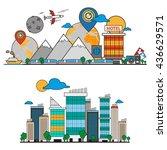 business travel background | Shutterstock .eps vector #436629571